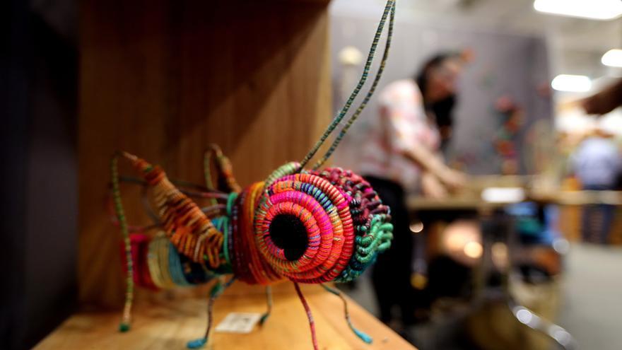 Artesanos exponen sus trabajos en una de las principales vitrinas de Colombia