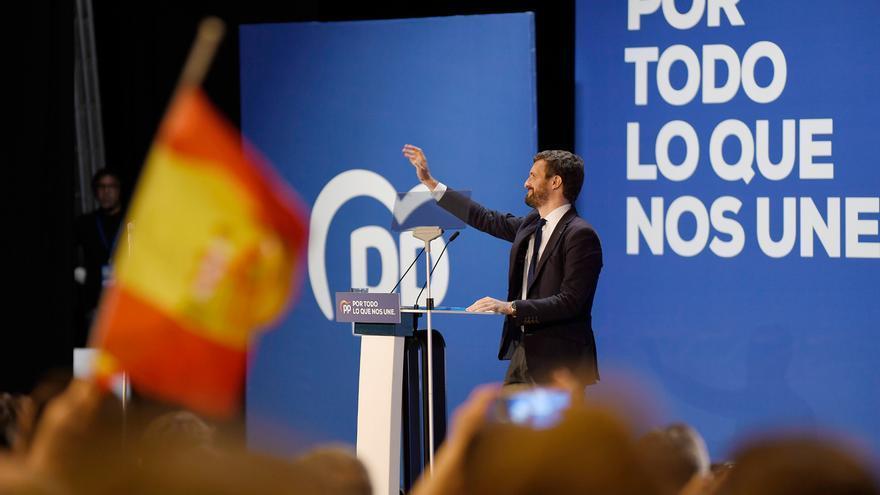 """Casado, optimista ante esta """"segunda oportunidad"""" para afianzar el PP a costa del desplome de Cs"""
