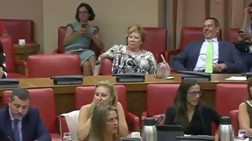 Celia Villalobos, en la comisión de Empleo y Seguridad Social, el pasado 1 de septiembre.