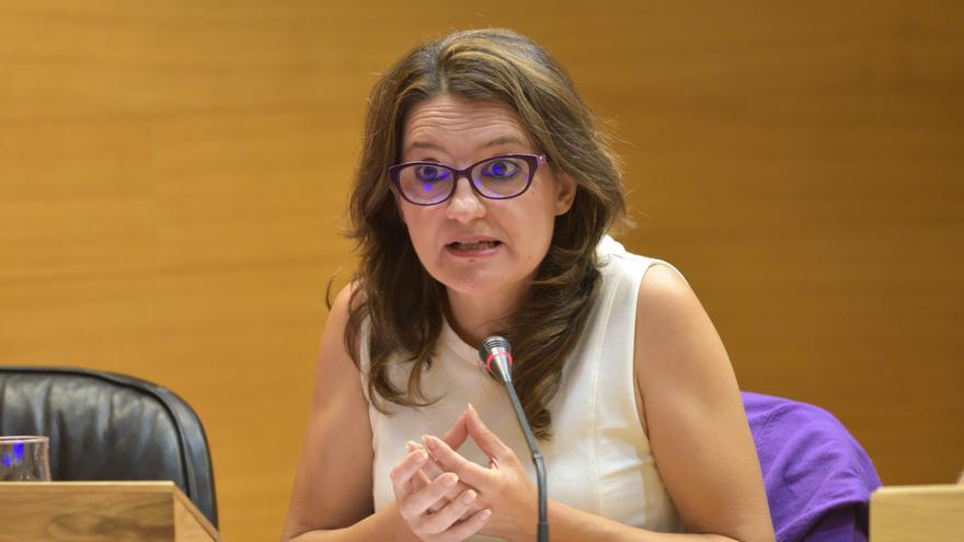 Mónica Oltra, en una comparecencia en comisión en las Corts Valencianes