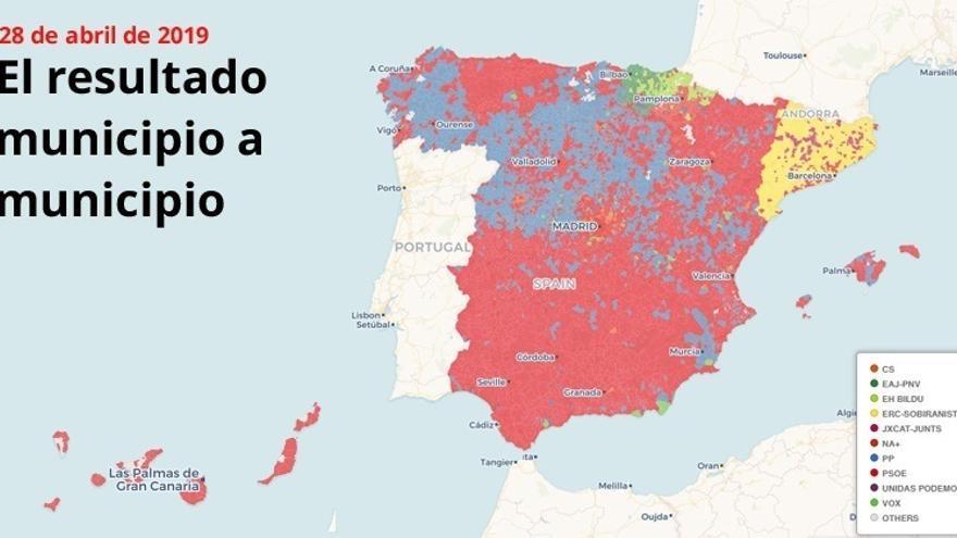 El resultado elecciones 2019, municipio