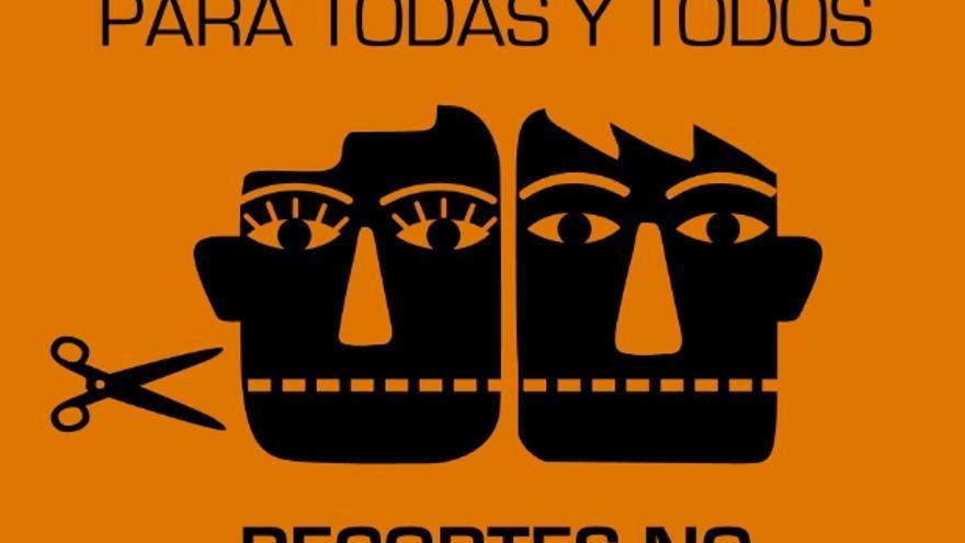 Cartel de la Marea Naranja en defensa de los Servicios Sociales. Foto: trabajosocial.org