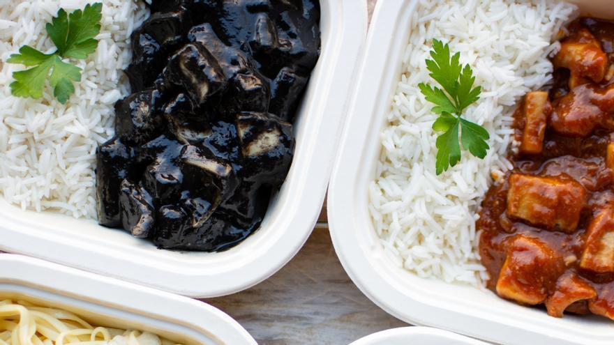 Comida preparad en tuppers de celulosa de Knoweats
