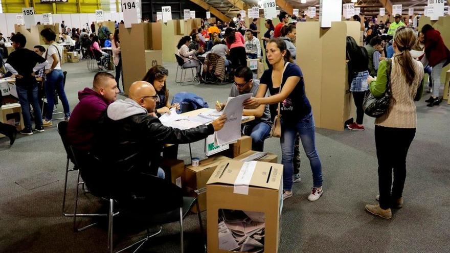 Mesas electorales en Colombia.