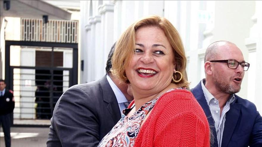 La alcaldesa de Telde, Maria del Carmen Castellano.