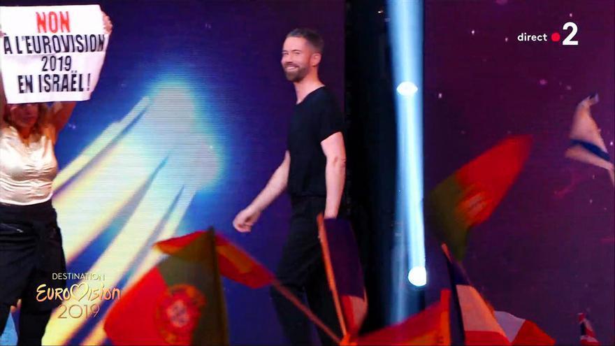 Manifestante contrarios a Israel irrumpen en la semifinal francesa de Eurovisión