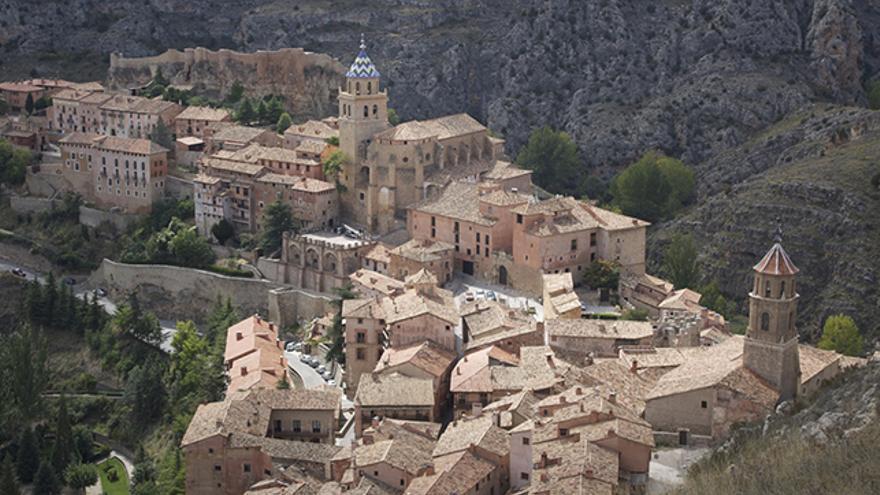 Visto desde lo más alto Albarracín se muestra en todo su esplendor. / Foto: Manuel Alende Maceira