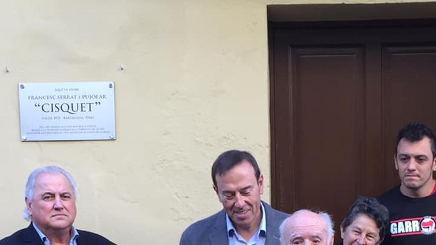 Miquel Serrat, hermano de Francesc Serrat, durante su homenaje en Olot