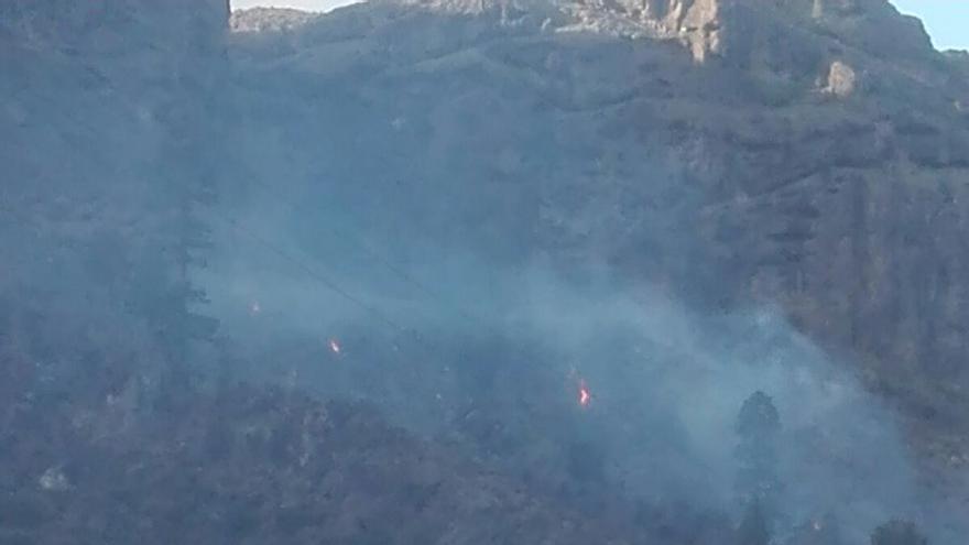 Incendio entre las presas de Las Niñas y Soria