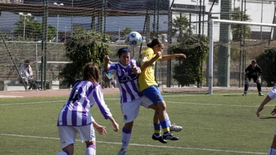 Del partido de la UD Las Palmas y Real Valladolid de la Liga femenina #2