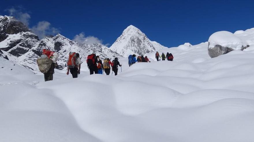 Los participantes en la expedición canaria a Nepal.