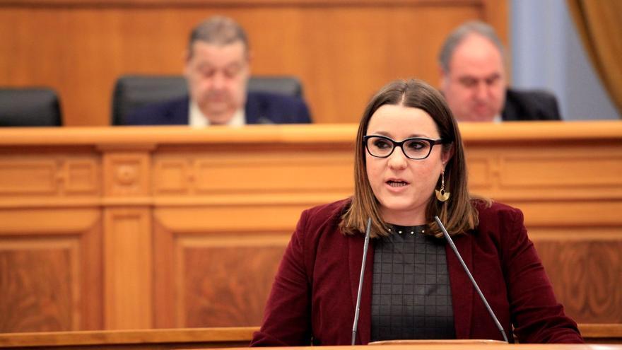 María Díaz (Podemos) en las Cortes de Castilla-La Mancha