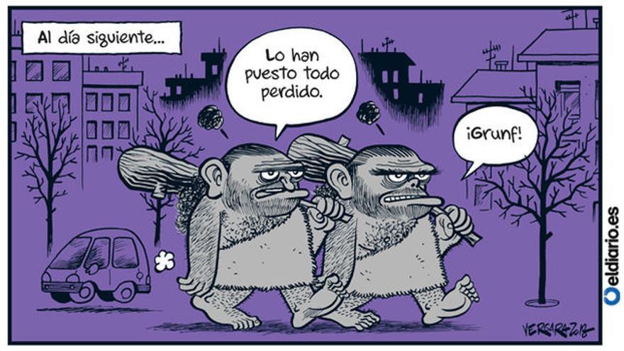 Al día siguiente (08/03/2018), por Bernardo Vergara