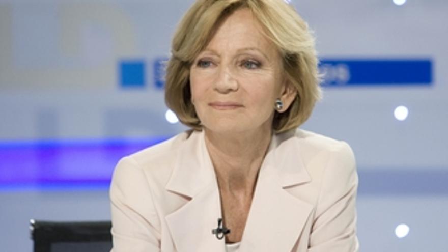La ministra de Economía y Hacienda Elena Salgado en TVE