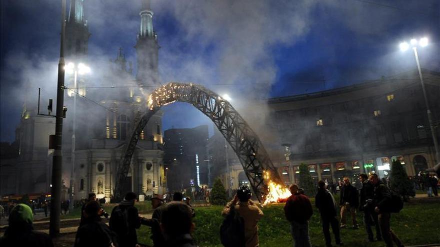 Disturbios en Varsovia durante la celebración del Día de la Independencia polaca