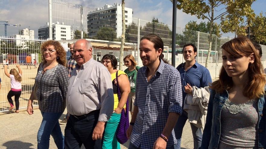"""Iglesias: """"Mas sabe que la mayoría de catalanes no querrían irse si Podemos gobierna"""""""