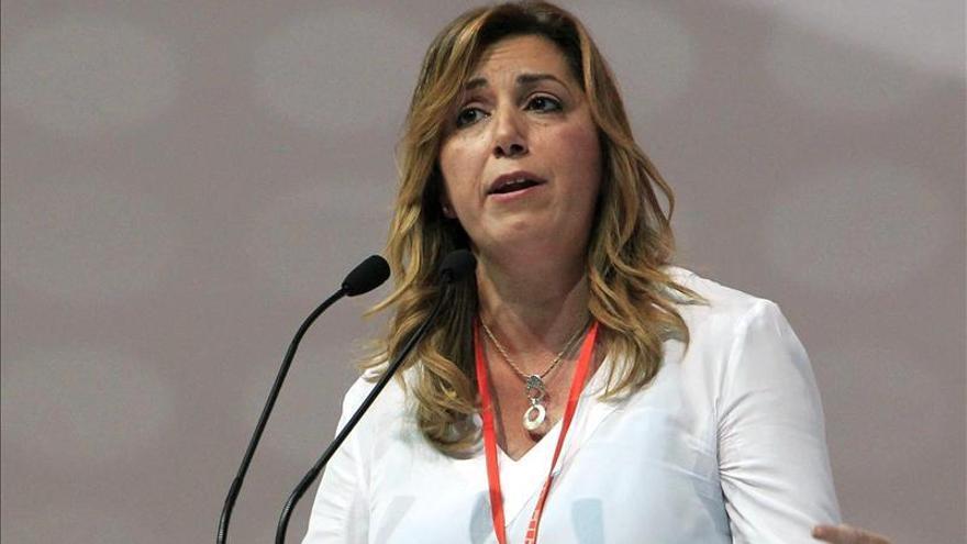 Susana Díaz pide primarias en el PSOE tras las elecciones europeas