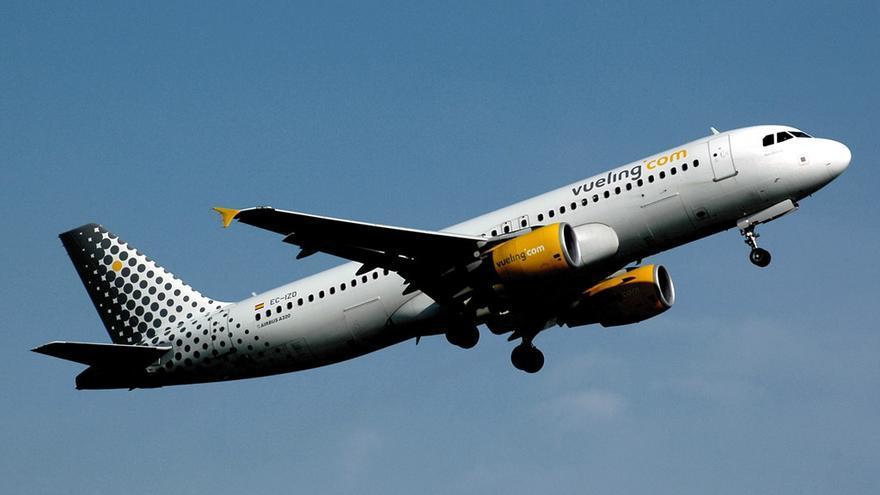 Un avión de la aerolínea española Vueling.