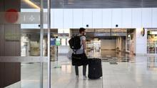 Aeropuerto de Gran Canaria durante el estado de alarma.