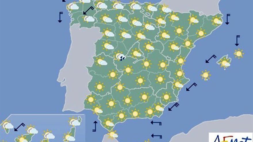 Mañana bajarán las temperaturas en la mitad sur y habrá tormentas en el interior