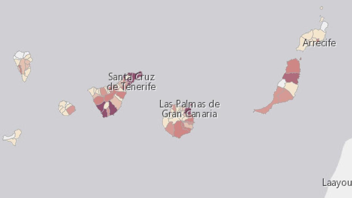 Mapa COVID de Canarias