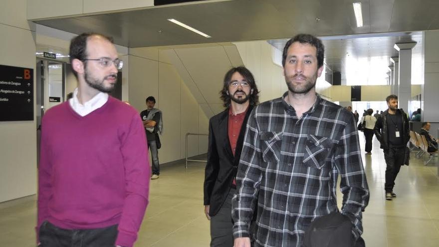 Los '8 de Yesa', incluido un diputado de Podemos, recurrirán la multa por resistirse a la autoridad en una protesta