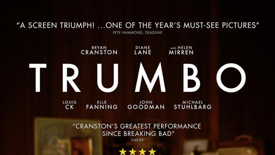 Cartel de 'Trumbo. La lista negra de Hollywood'