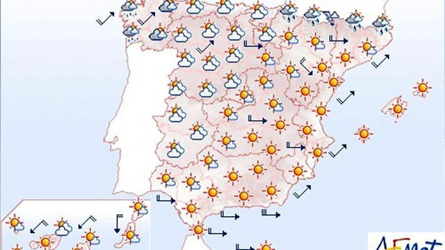 Previsión del tiempo para mañana, 8 de mayo.