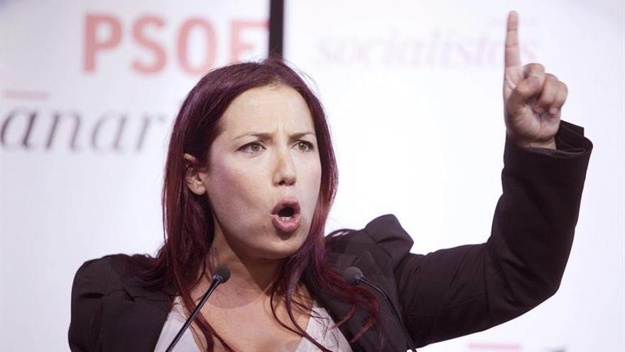Cierre de campaña de la candidata del PSOE al Gobierno de Canarias, Patricia Hernández. (EFE/Ramón de la Rocha)