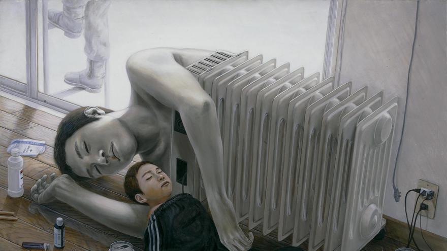 'Invernadero', 2003. Acrílico y óleo sobre lienzo. Colección particular.