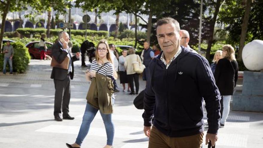 El exgerente de Emarsa a su llegada a la Audiencia de Valencia