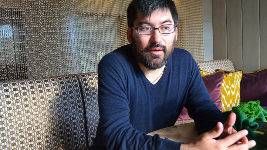 Edy Tábora, este viernes, durante la entrevista