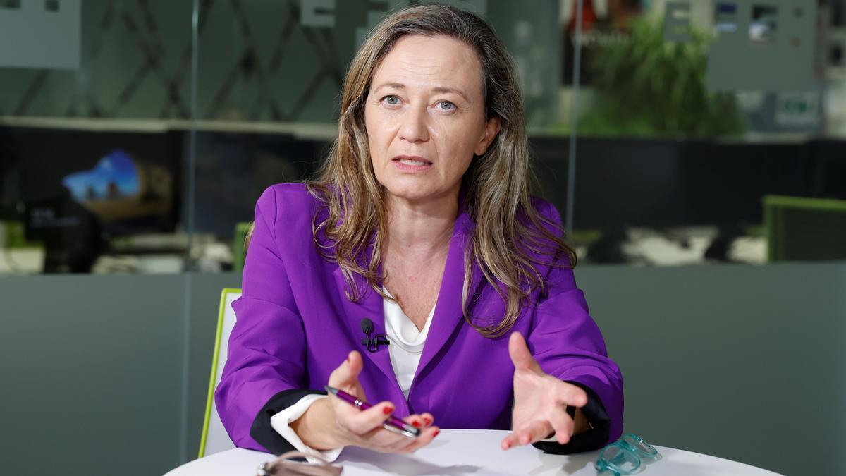 La delegada del Gobierno para la Violencia de Género, Victoria Rosell, durante una entrevista concedida a Efe