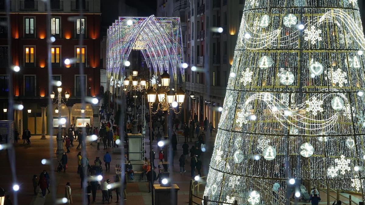 Las luces de Navidad de Valladolid, este año.