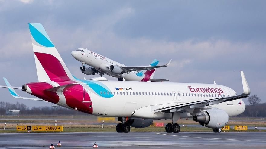 Aviones de la compañía  Eurowings.