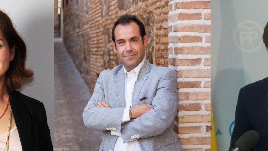 Orlena de Miguel (Cs), Juan Ramón Crespo (IU) y Lorenzo Robisco (PP)