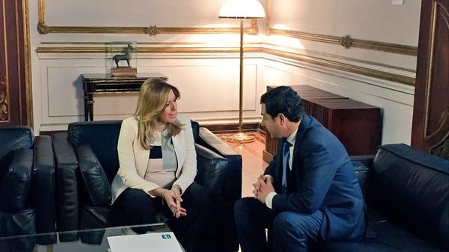 Moreno supedita la postura del PP-A en la investidura a un acuerdo con el PSOE para respetar al más votado