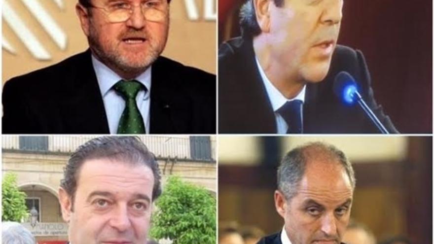 De izquierda a derecha, Alejandro Font de Mora, Victor Campos, Gerardo Camps y Francisco Camps.