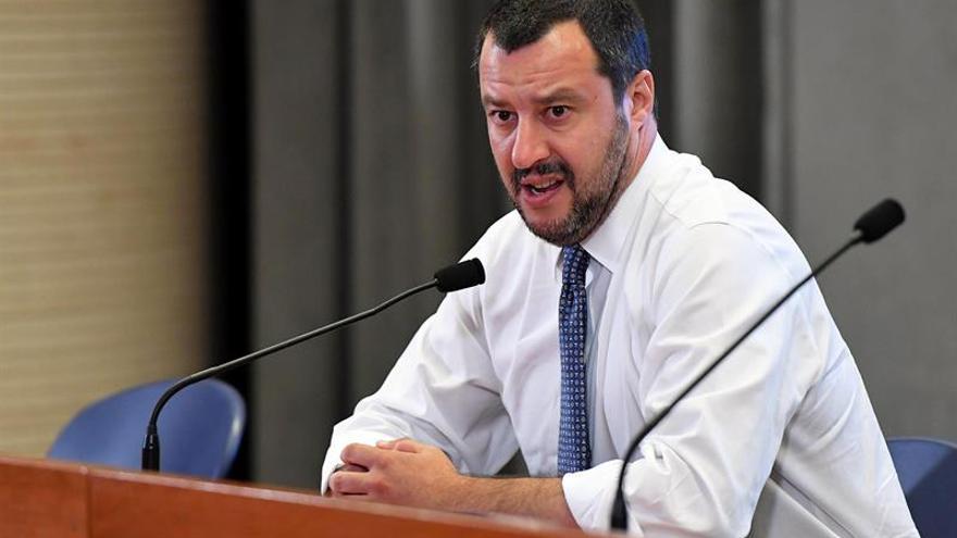 Imagen de archivo del ministro del Interior italiano Matteo Salvini