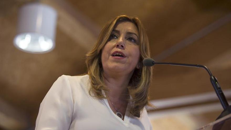 Susana Díaz: Rajoy debería dejarse de chantajes ya y ponerse a gobernar