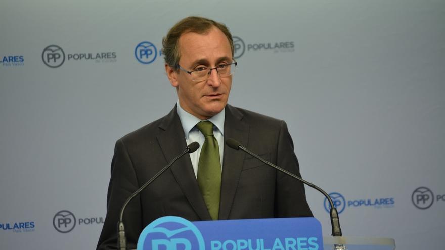 """Alonso (PP) afirma que el acuerdo de PGE con PNV da estabilidad y """"beneficia a millones de trabajadores y pensionistas"""""""