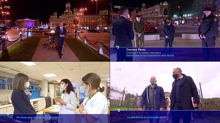 Aplausos a los Telediarios de TVE por su manera de reflejar el aniversario del coronavirus