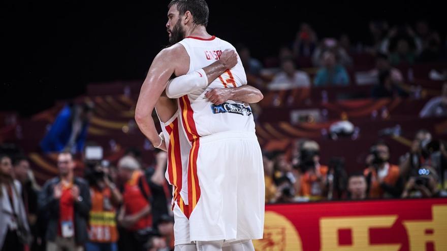 Marc Gasol, el hombre fuerte de la zona española en este Mundial de China.