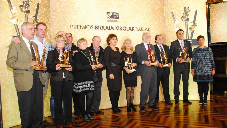 La Diputación entrega los Premios Bizkaia Kirola 2013