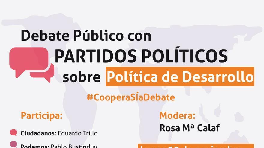 Cartel informativo sobre el debate