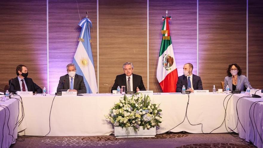 El Presidente se reunió en México con empresarios que tienen inversiones en la Argentina