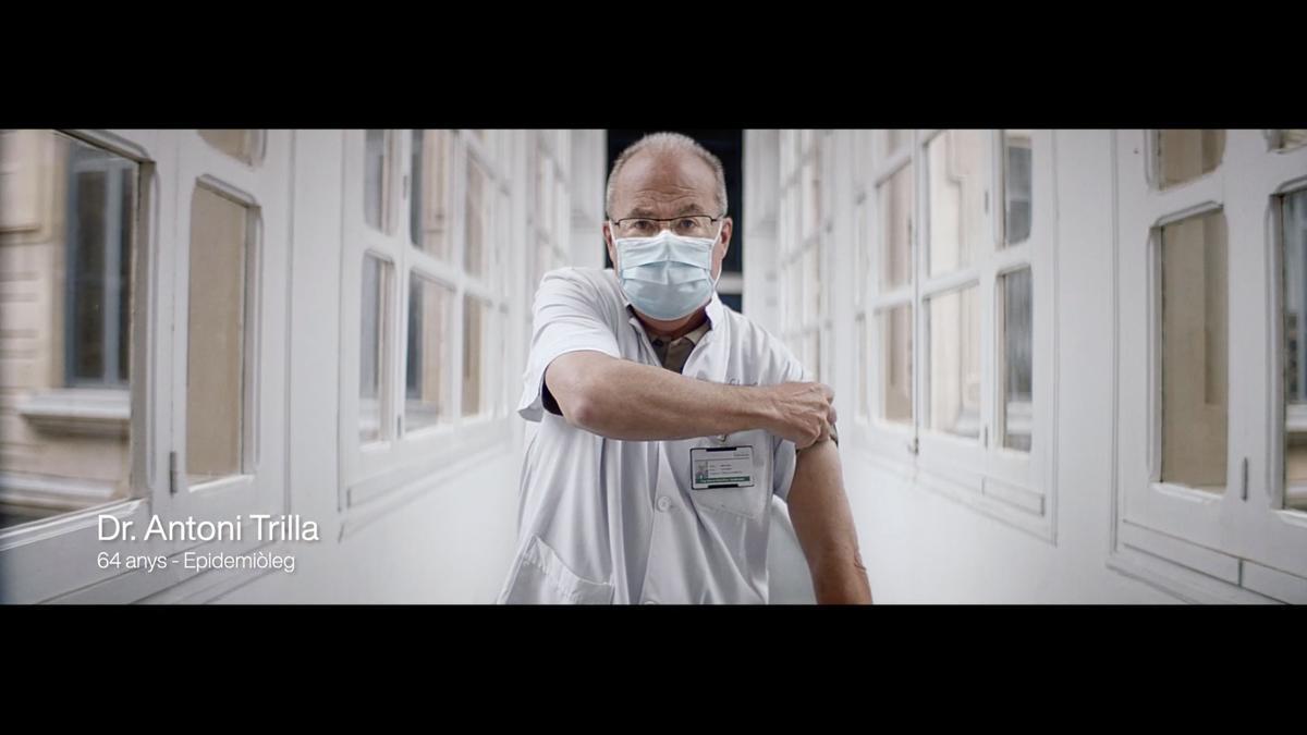 El médico Antoni Trilla, en un fotograma del vídeo