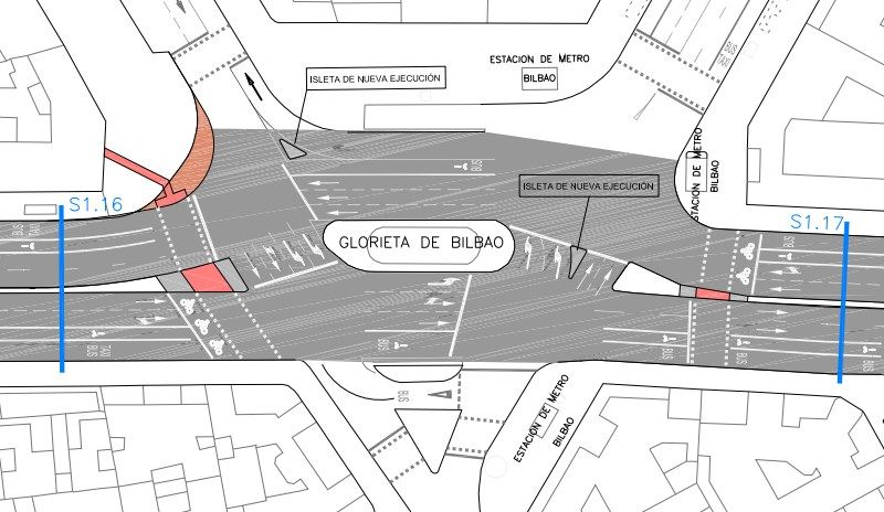 Diseño del nuevo carril bici, a su paso por Bilbao | AYUNTAMIENTO DE MADRID
