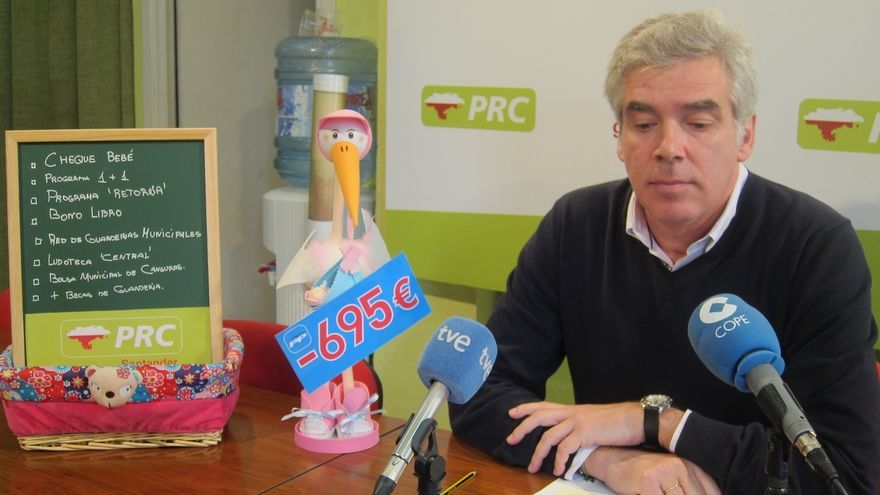 El PRC se compromete a bonificar con 600 euros cada bebé nacido en Santander