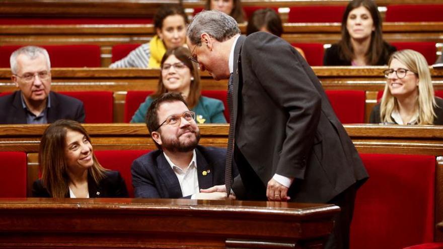 """Aragonès (ERC) ve """"injusta"""" la inhabilitación del president Torra"""